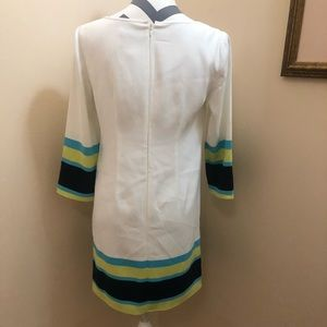 Ann Taylor Dresses - White shift dress with multi colored detail